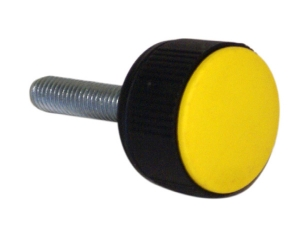 "CLM2 _ ""CONTACT"" Round Knob Base with Threaded Stud + Coloured Cap"