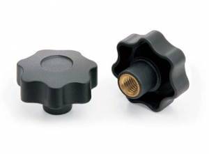 V7NC _ Nylon Star Knob with 7 Points and Threaded  Blind Insert