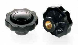 V9B _ Handwheel with 9 Points and Threaded Insert