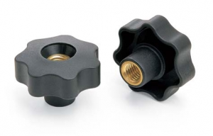 V7NBP _ Nylon Star Knob with 7 Points and Threaded Through-Insert