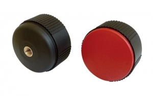 "CLB2 _ ""CONTACT"" Round Knob with Threaded Blind Insert + Coloured Cap"