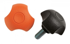CLAM - CLM _ 3 Lobe Knob with Threaded Stud